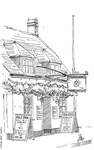 Pub Drawing England Kaay