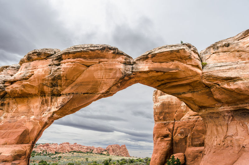 Arches National Park, Utah Beauty In Nature Cloud - Sky Day Geology Low Angle View Nature No People Outdoors Rock - Object Sky Travel Travel Destinations Vacations