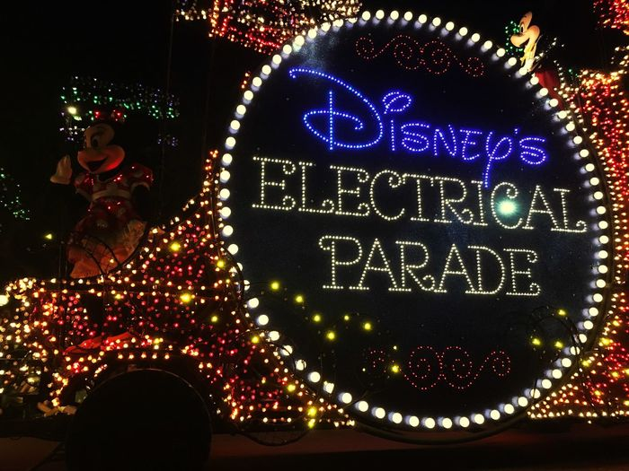 Disney Walt Disney World Magic Kingdom Main Street Main Street Electrical Parade Parade Electrical Parade Florida Minnie Mouse Lights