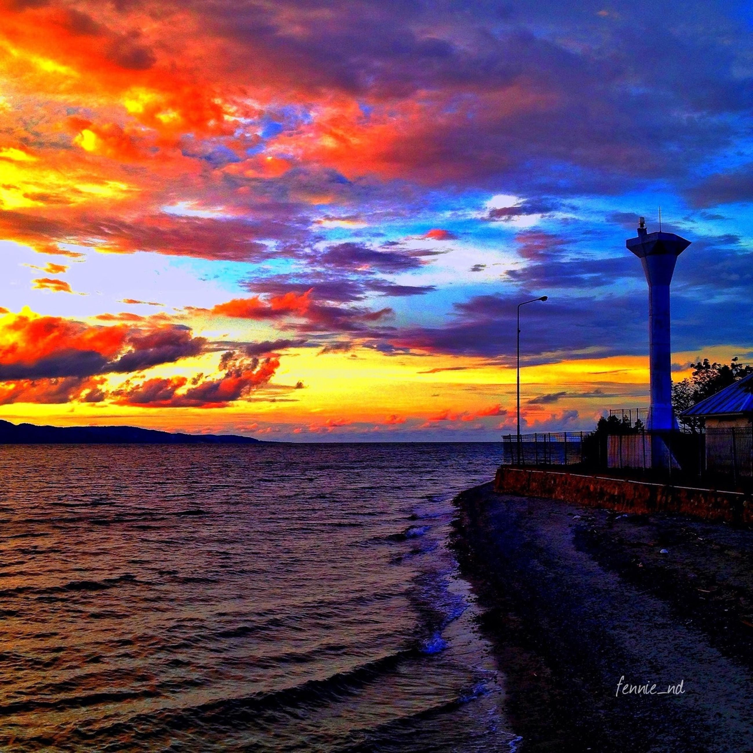 sunset, water, sky, sea, scenics, cloud - sky, tranquil scene, beauty in nature, tranquility, horizon over water, idyllic, nature, beach, cloud, cloudy, orange color, dramatic sky, pier, shore, rippled