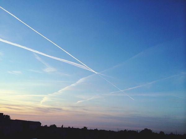 Sky Contrails