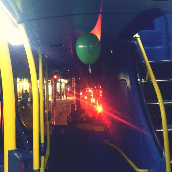 Every bus should have a balloon on it... Couldn't capture the happy ceiling bouncing it was doing but it was a very happy balloon..!