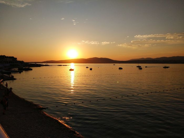Water Sea Sunset Beach Beauty Astrology Sign Silhouette Wave Sun Romantic Sky Atmospheric Mood Dramatic Sky Seascape Lightning Atmosphere