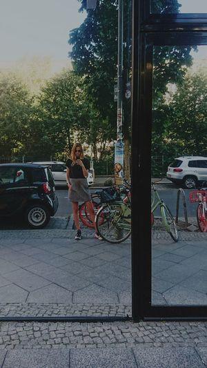 Mirrorselfie Mirror Summer Girl Bored Girl Selfie ✌ Bikes Cars City Life City City Girl Vertical Full Length Tree Girls Standing Sky Urban Scene City Street