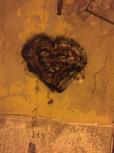 Heart Graffiti Urban Street Art Painting Graphic Italy Sardinia Heart Art City Walls Texture Cracked Walls Building Old Buildings Architecture