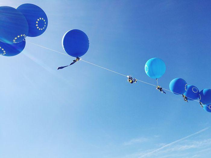 Europe Deflated Balloons Sun Sky