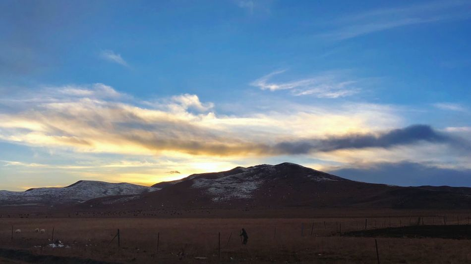 Sky Mountain Scenics Landscape Nature Beauty In Nature Cloud - Sky Tranquility Tranquil Scene Outdoors Mountain Range Sunset Desert No People Day
