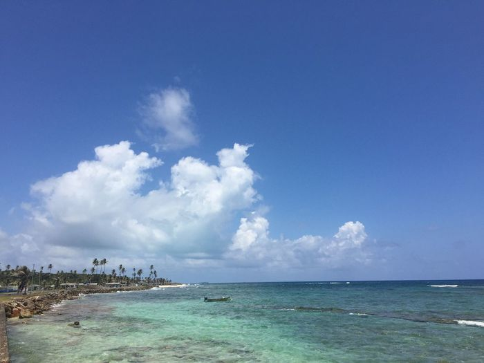 Sky Sea Water Scenics - Nature Beauty In Nature Beach Cloud - Sky Tranquility Travel Horizon Over Water Blue