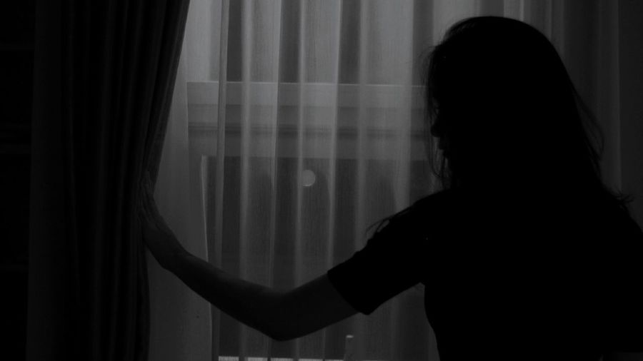 One Person Silhouette Only Women Young Adult Curtain People The Week On EyeEm Eyeem Photo Of The Week EyeEm Photo Of The Day Women Real People Lifestyles Young Women One Woman Only Night INDONESIA