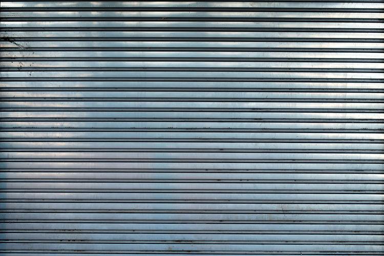 Full frame shot of metallic shutter