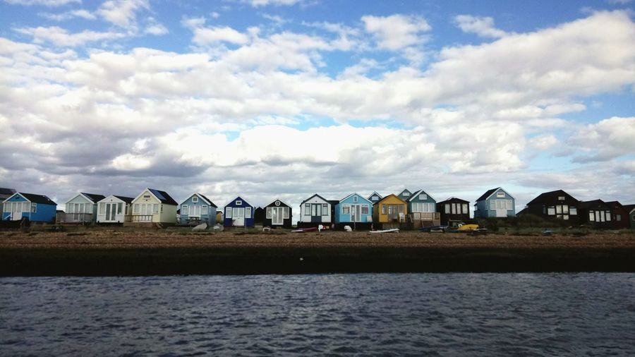 Day Beauty In Nature Outdoors Sky Water No People Built Structure Cloud - Sky Beachphotography Beach View Beach Huts Beachfront Summer Memories 🌄Mudeford Quay Summer 2016. Summerdaysarecoming Mude