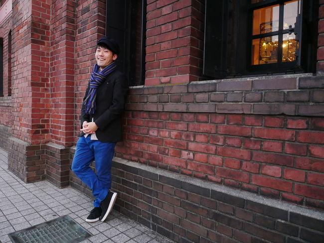 横浜赤レンガMan One Person One Young Man Only One Man Only Portrait Japan Japan Photography Yokohama Yokohama, Japan Blocks Posing Red Brown Brick Wall Brick Bricks Red Brick Red Brick Wall Red Brick Building Red Brick Warehouse Warehouse