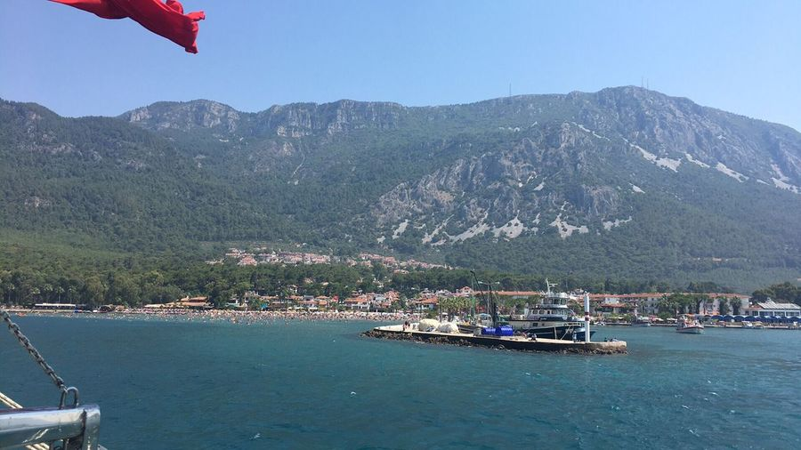 Mountain Day Nature Mountain Range Outdoors Beauty In Nature Nautical Vessel Scenics Tree Sea No People Water Clear Sky Sky Muğla,Türkiye Akyaka Beauty In Nature Yacht Nature Clear Sky