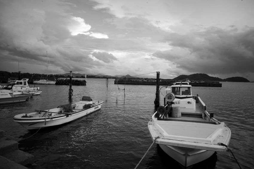 Boat Boats Bw Blackandwhite Monochrome Leica Voigtlander Lens Color-skopar 21mm F4 Japan M9-p Nautical Vessel Tall Ship Yacht Sea Moored Sailing Oil Pump Fishing Boat Fishing Industry Marina