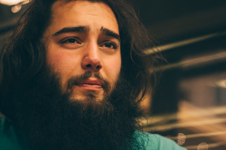 Beard Canon Casual Clothing Close-up Contemplation Focus On Foreground Headshot Human Face Leisure Activity Lifestyles Long Beard Long Hair Man Portrait Showcase April Young Adult