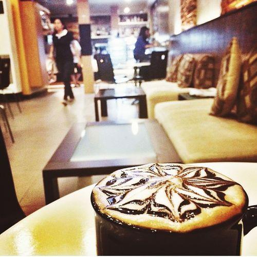Taking Coffee  Morning Coffee Drinking A Latte Relaxing Mocha