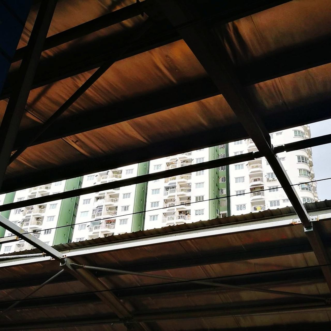 ceiling, indoors, low angle view, window, built structure, architecture, day, no people, close-up