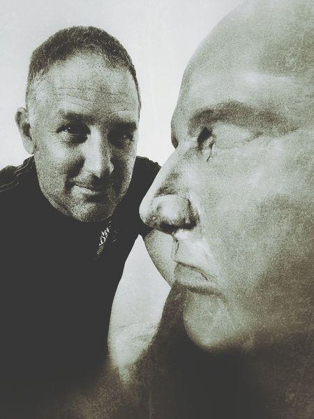Clay self portrait. ArtWork Columbus, Ohio CCAD Darrek Claysculpture Hello World Ohio, USA