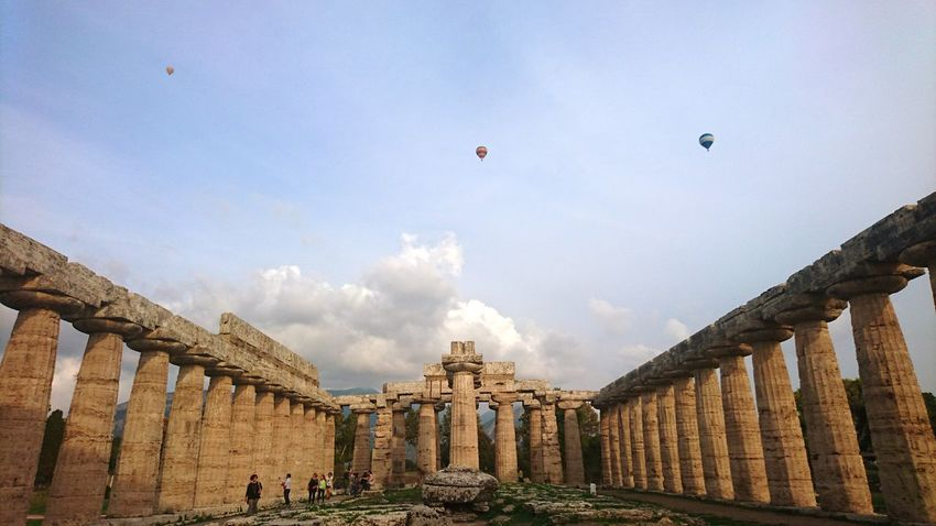 Flying on the ruins. Baloons Clouds Light EyeEmNewHere Architecture History Old Ruin Travel Destinations Sky Built Structure Cloud - Sky Architectural Column Ancient Day Outdoors Flying Ancient Civilization Nature Colour Your Horizn