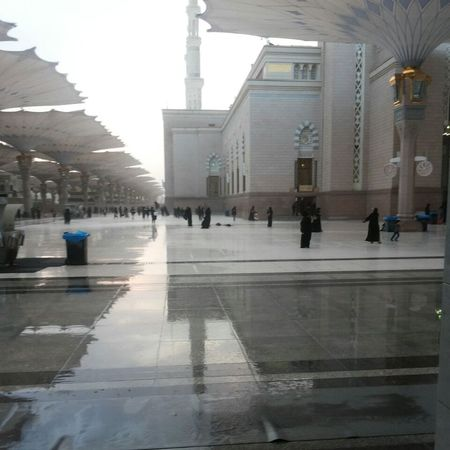 المدينة_المنورة المسجد النبوي تصويري♡ مطر💜💜💜