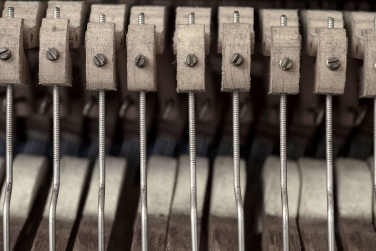 Iron Music Piano Wood WoodLand Backgrounds Brown Close-up Equipment Hammer Indoors  Inside Instrument Instrument Of Time Metal No People Old Order Pattern Selective Focus Side By Side Still Life Wood - Material Urban Fashion Jungle