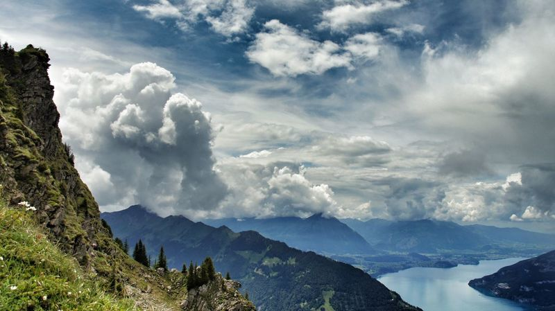 Swiss Grindelwald. Mountain Mountain View Cloud Lake View Sky And Clouds Skyline Summer ☀ Walking Colours