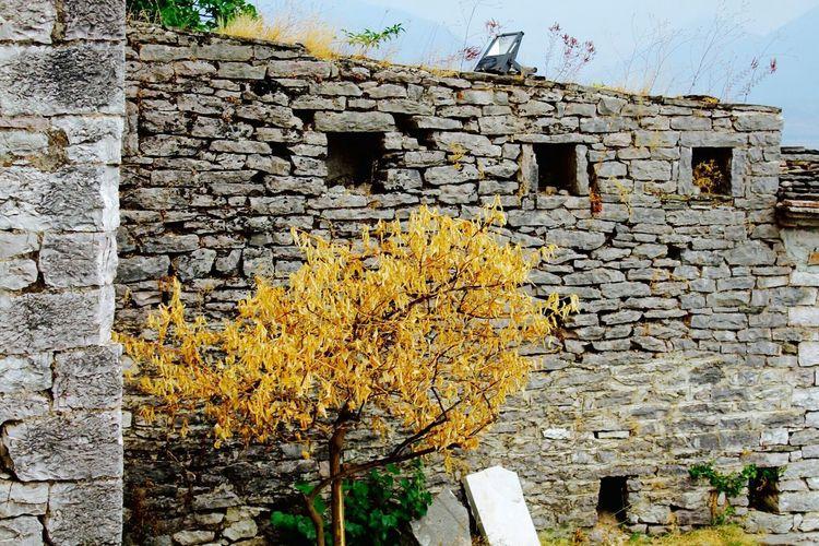 Argirocastro Gjirokaster Zekati House Albania Shqiperia Stone Pietra Gur Yellow Giallo