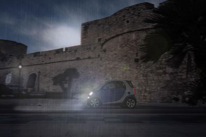 Castle Evening Italy Night Night Lights Night View Nightlife Nightphotography Nightshot Rain Rainy Days Rainy Night Smart Smart Car