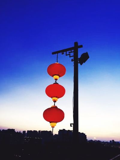 Nanking Silhouette Sunset Hanging No People Sky Outdoors Red Clear Sky Architecture Day