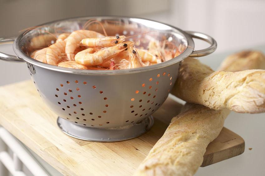Baguette Colander Composition Food Freshness Healthy Eating Healthy Lifestyle Inthekitchen Preparation  Shrimps