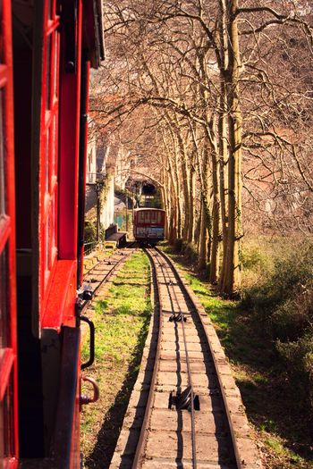 Donostia / San Sebastián Monte Igueldo Funicular Funiculartrain Funiculaire  Rail Railway Euskadi Euskalherria SPAIN Pais Vasco Guipuzkoa Guipuzcoa Train Old Train