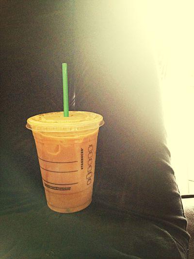 Time to wake up. Starbucks Iced Coffee Good Morning