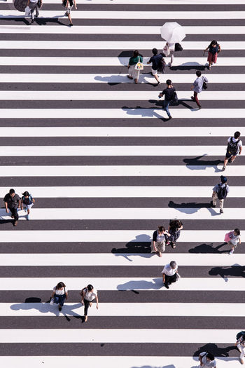 people City Street Crossing Crosswalk Minimal Minimalism Street Tokyo Zebra Crossing Beautifully Organized