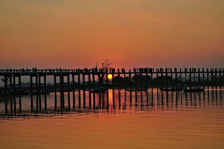 Myanmar Ubeinbridge Bridge Edge Of The World Sunset Sunset Silhouettes Travel Backpacking Wanderlust Enjoying Life