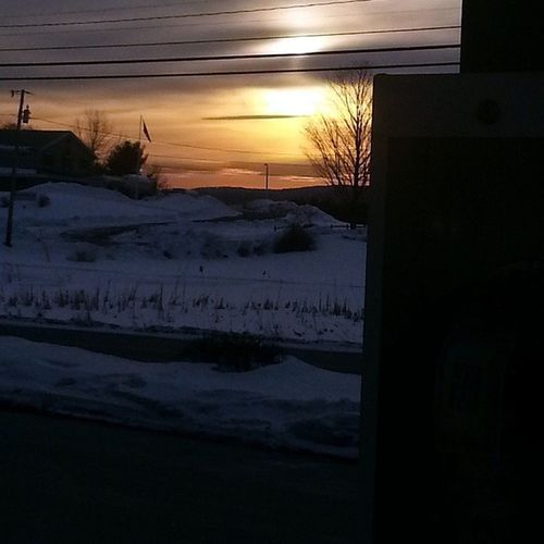 View from the gas pump ClaremontNH NH Newhampshire 603 Newengland Sky Sunset Igersnh Officialnhgram Tbirdminimart