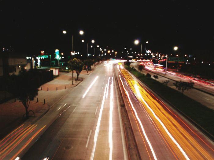 Street Light City Long Exposure Highway City Street Night Bogota,colombia. Bogotacity Colombia ♥