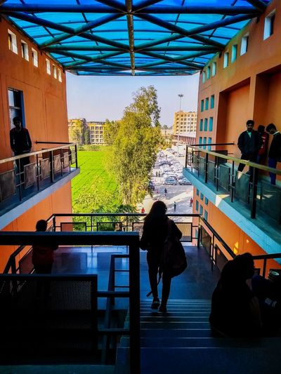 Architectural pieces College Lovely Professional University Water Men Tree Sky Architecture Built Structure Building EyeEmNewHere