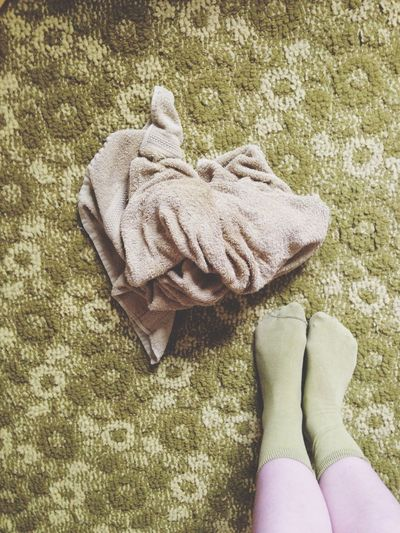Green, green, green. A rug from the 70s. Green Rug Interior Design Feets Feet
