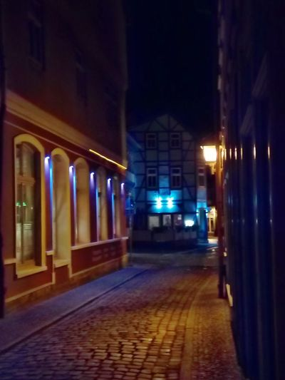 After Dark Altstadt Altstadt Nordhausen EyeEm Selects Thuringia Alley Architectural Feature Architecture Built Structure Cobblestone Diminishing Perspective Eyem Best Shots Illuminated Illuminated Buildings Lighting Equipment Night No People Old Germany Old City Streets Storefront Street Light Streetphotography Thuringian Architecture Timber Frame Timber Framed House