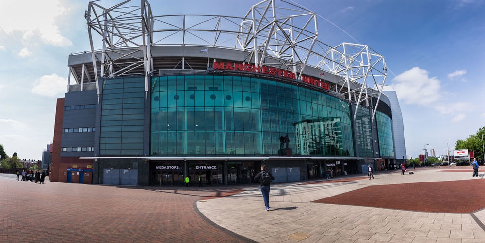 Architecture Arena Day Football Stadium Manchester Manchester United Old Trafford Outdoors Panorama Eyeem Architecture EyeEm Buildings Eyeem Manchester