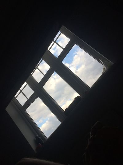 Window Indoors  Low Angle View Sky Cloud - Sky Day No People Architecture