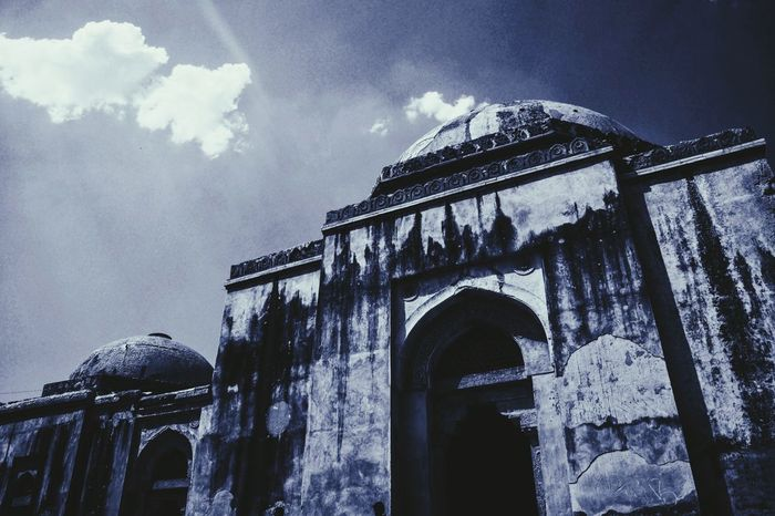 The Secret Spaces Architecture Sky Cloud - Sky Low Angle View Built Structure No People Building Exterior Day Outdoors History Nature Hauzkhas Hauzkhasvillage First Eyeem Photo The Secret Spaces