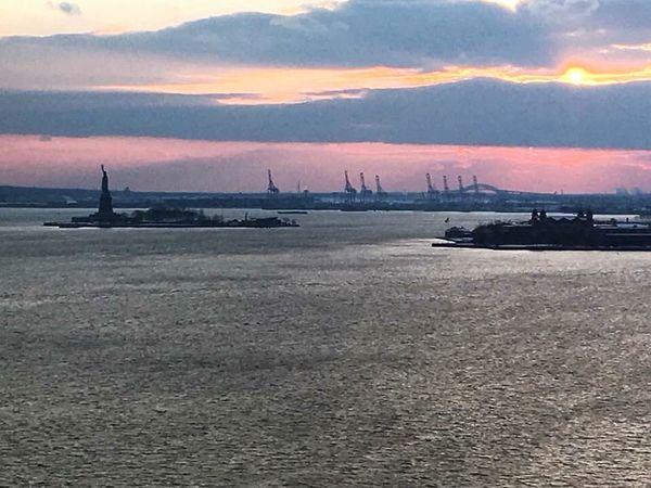 Winter Sunset Harbor Sunset Statue Of Liberty NYC Photography Ny Harbor