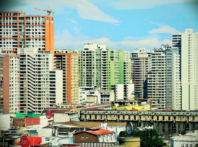 Santiago De Chile Balconi Balcony View Sam Zoom21x Amateurphotographer  Amateurphotography CityBuilding Neighbors