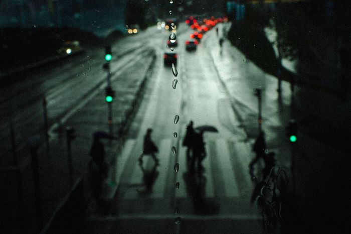 Gothenburg 17 Streetphotography The Week on EyeEm Bokeh Cinematic Fujifilm Fujifilm_xseries Nightphotography Silhouette Illuminated Real People Group Of People Green Color Lighting Equipment People HUAWEI Photo Award: After Dark Night City Street Road Light - Natural Phenomenon Light Shadow