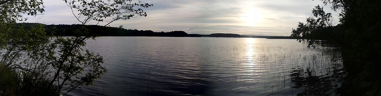Peaceful Summer Evening Landscape Lake Purenature Taking Photos