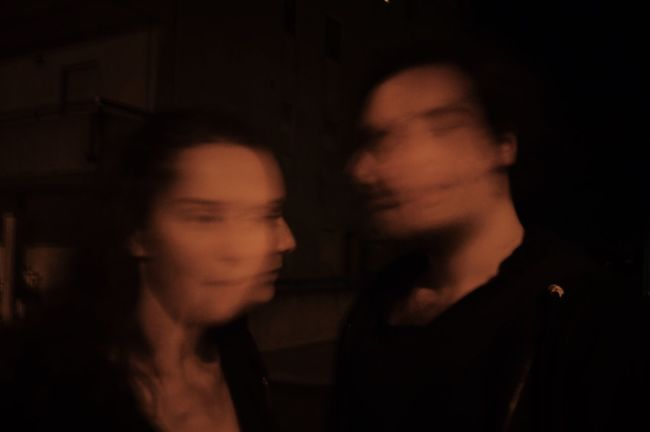 Dazed and Confused . Two People Young Adult Young Women Real People Togetherness Night Close-up Long Exposure Movement Friends Streetphotography Shadow Outdoors Nightphotography Night Lights