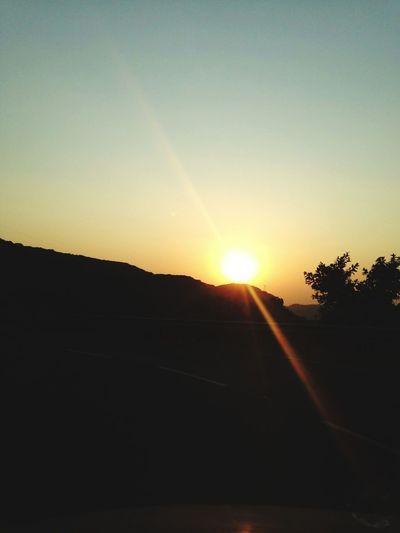 a beautiful ⛅ Sunset Sun Sunbeam Sunlight Silhouette No People Nature