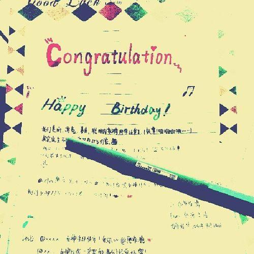 Congratulation 生日快乐 HappyBirthday 手工制作 handmade生日贺卡 祝你祝我生日快乐!?