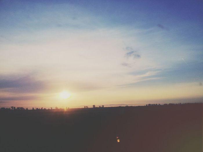 Traveling Sunrise Beautiful Day Friday
